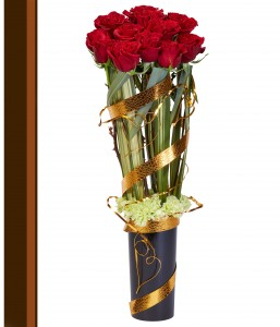 Gold Roses Romantic Floral Design in Saanich, BC | PETALS N BUDS SAANICH FLORIST