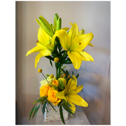 Gold Rush  Lily Topiary