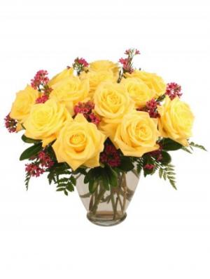 Gold Strike Roses Arrangement in Ozone Park, NY | Heavenly Florist