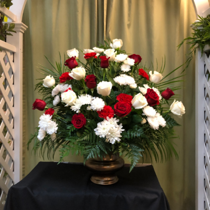Gold Urn Funeral
