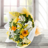 GOLD & WHITE HAND-TIED HAND TIED BOUQUET