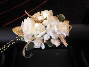 Gold Wrapped Corsage  in Teaneck, NJ | TIGER LILY