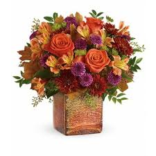 Golden Amber Bouquet Fall Arrangement