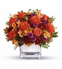 Golden Amber Cube Vase
