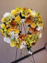 Golden Artisan Wreath by Darlene