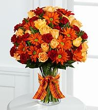 Golden Autumn Bouquet vase arrangment