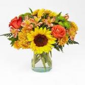 Golden autumn vase /clear
