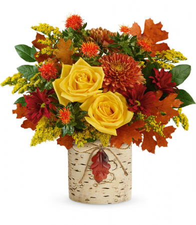 Golden Birch Bouquet All-Around Floral Arrangement