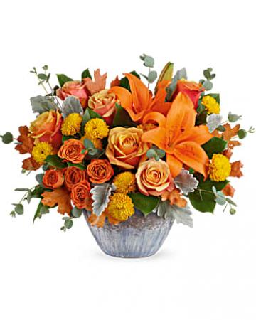 Golden Bounty Arrangement of Flowers