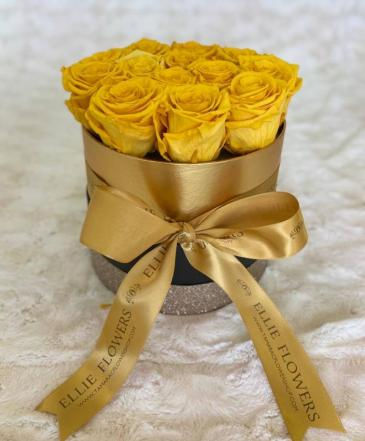 Golden box-Preserved flowers