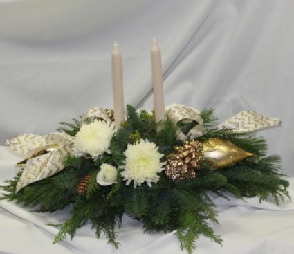 Golden Centerpiece Fresh Floral Design