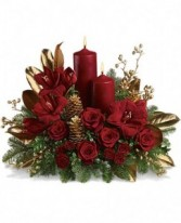 Golden Christmas  Flower Arrangement