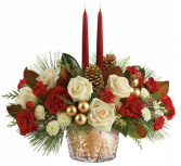 Golden Christmas Memories Centerpiece