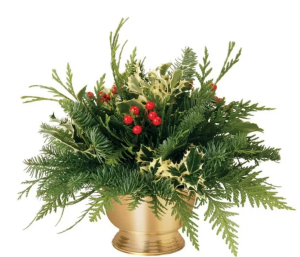 Golden Christmas  Muxed Christmas greens and berries  in Elyria, OH | PUFFER'S FLORAL SHOPPE, INC.