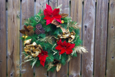 Golden Christmas Silk Wreath