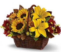 Golden Days Basket Arrangement