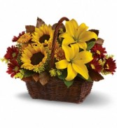 Golden Days BasketT174-2A Fall Flowers