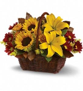 Golden Days BasketT174-2A Fall Flowers