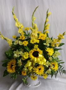 Golden Delight Fresh Funeral Basket