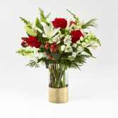 Golden Dreams Bouquet Christmas Vase