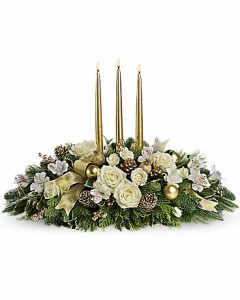 Golden Elegance Centerpiece