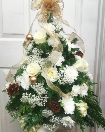 Golden Elegance Christmas Arrangement