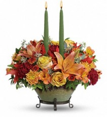 Golden Fall CenterpieceT14T105A Fall Flowers
