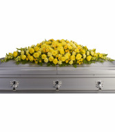 Golden Garden Casket Spray Casket Spray