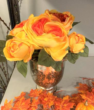 Golden Garden Roses Everlasting Decor