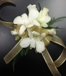 Golden Girl Wrist Corsage