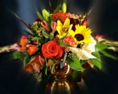 Golden Globe Autumn Centerpiece