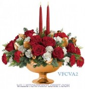 Golden Glory Centerpiece Holiday Arrangement