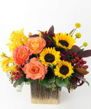 GOLDEN GLORY Vase Arrangement in Longview, TX | ANN'S PETALS