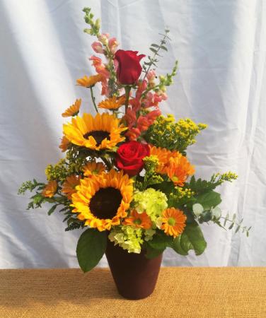 Golden Glow Vase Arrangement