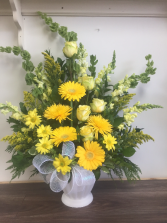 Golden Goodbye Funeral arrangement