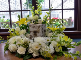 Golden Grace Urn Surround Arrangement (Urn not included)