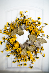 Golden Halo Silk Wreath