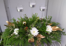 Golden Holiday Centerpiece