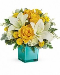 Golden Laughter Bouquet Spring Flowers