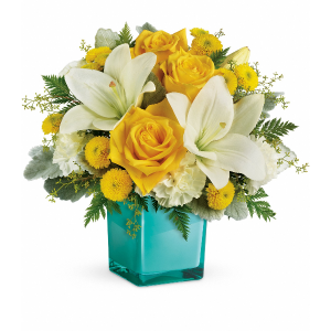 Golden Laughter Fresh Arrangement in Rossville, GA | Ensign The Florist