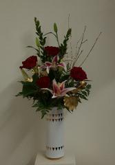 Golden Love Vase Arrangement