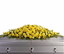 Golden Memories Casket Spray