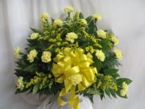 Golden Memories Fresh Funeral Basket