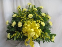 Golden Memories Fresh Funeral Basket