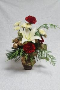 Golden Mercury Glass Vase