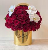 GOLDEN ORCHIDS 50 FRESH ROSES