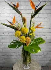Golden Paradise Vase Arrangement