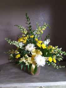 Golden peace Funeral flowers