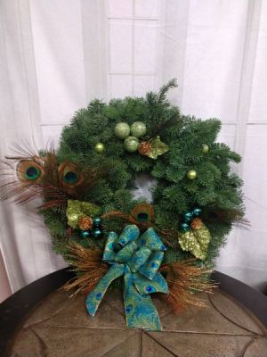 "Golden Peacock  Christmas Wreath 20"" in Bend, OR 