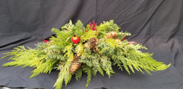 Golden Pomegranate Christmas Arrangement